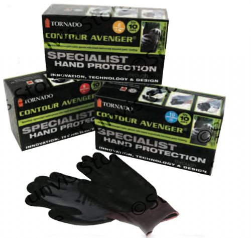 TORNADO Contour Avenger Special Hand Protection Work Gloves 10 Box